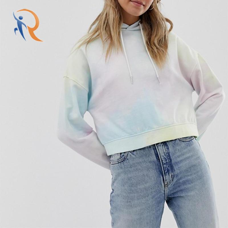 Women Pullover Hooded Tie Dye Hoodies RTC12