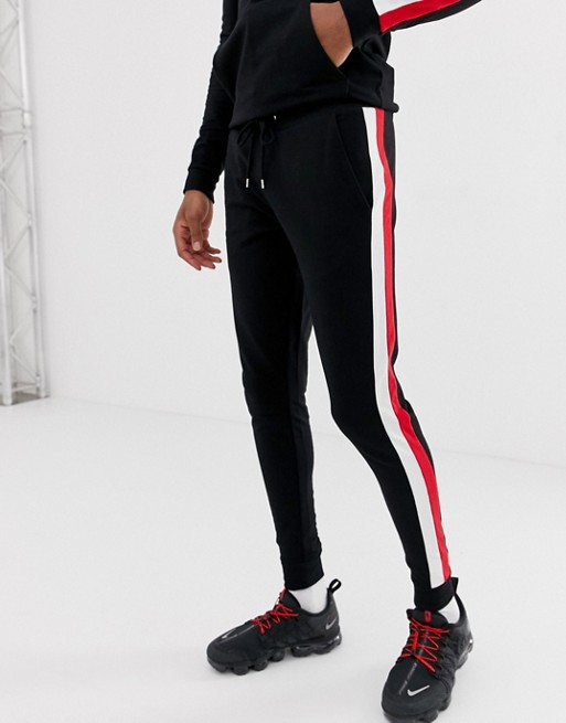 Ruiteng-Joggers Sale Manufacture   Mens Skinny Jogger With Side Stripe Rtc13