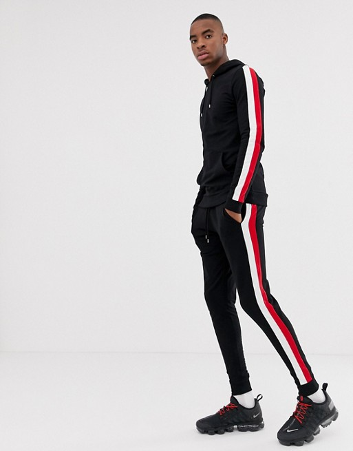 Ruiteng-Joggers Sale Manufacture   Mens Skinny Jogger With Side Stripe Rtc13-1