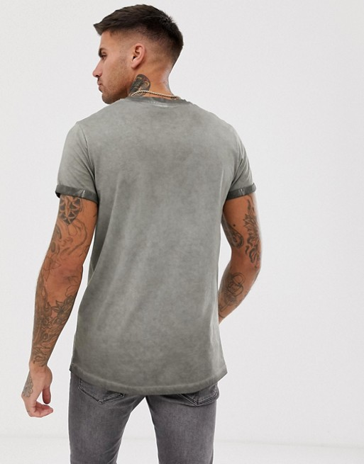 Ruiteng-Find Polo Tee Shirts Mens Acid Wash T Shirt With Roll Sleeve Rtc14 |-1