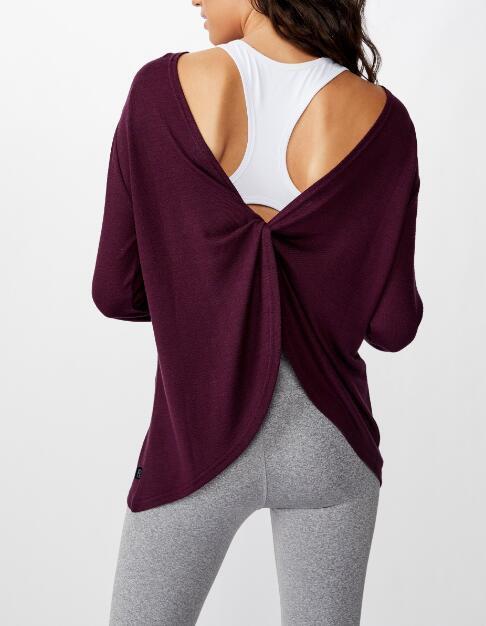 Womens Back Twist Long Sleeve Top RTM-311