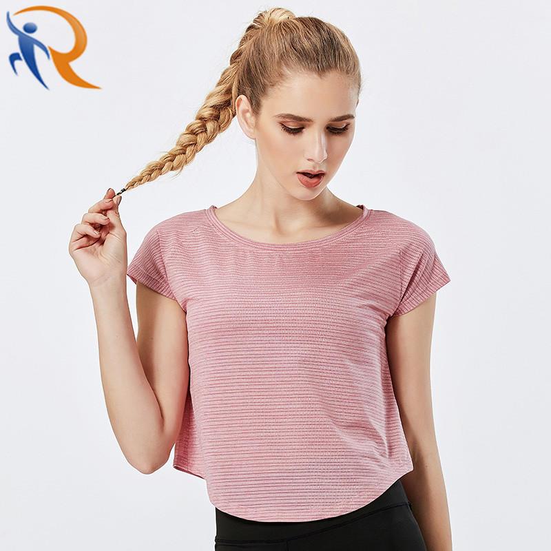 Women Casual Sportswear Short Sleeve Gym Running T-Shirt