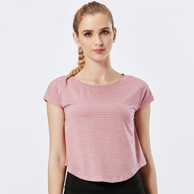 product-Women Casual Sportswear Short Sleeve Gym Running T-Shirt-Ruiteng-img