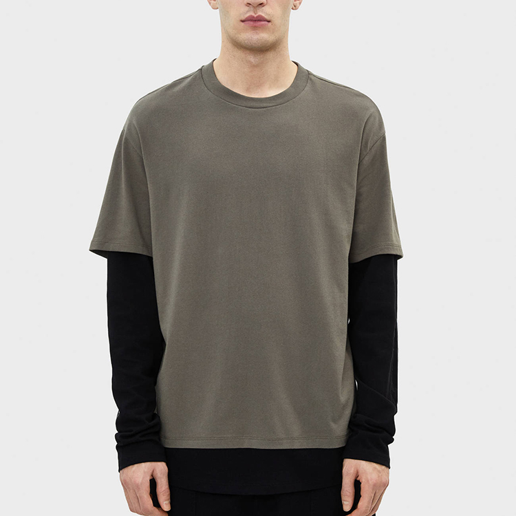 product-New Stylish Fashion Casual Double Layer Sleeves Long Sleeve T Shirt for Men-Ruiteng-img