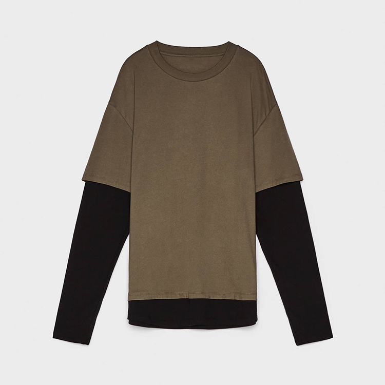 product-Ruiteng-New Stylish Fashion Casual Double Layer Sleeves Long Sleeve T Shirt for Men-img