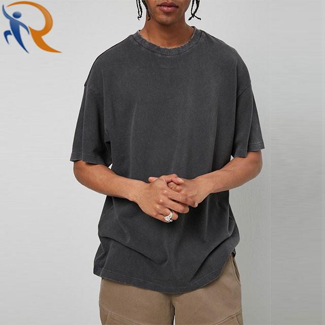 Men Oversize T-Shirt Casual Fashion Washed Sportswear