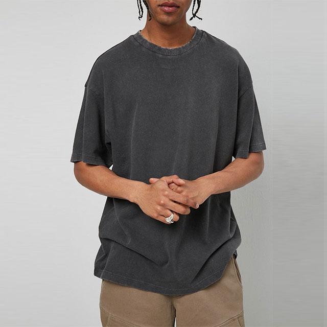 product-Men Oversize T-Shirt Casual Fashion Washed Sportswear-Ruiteng-img