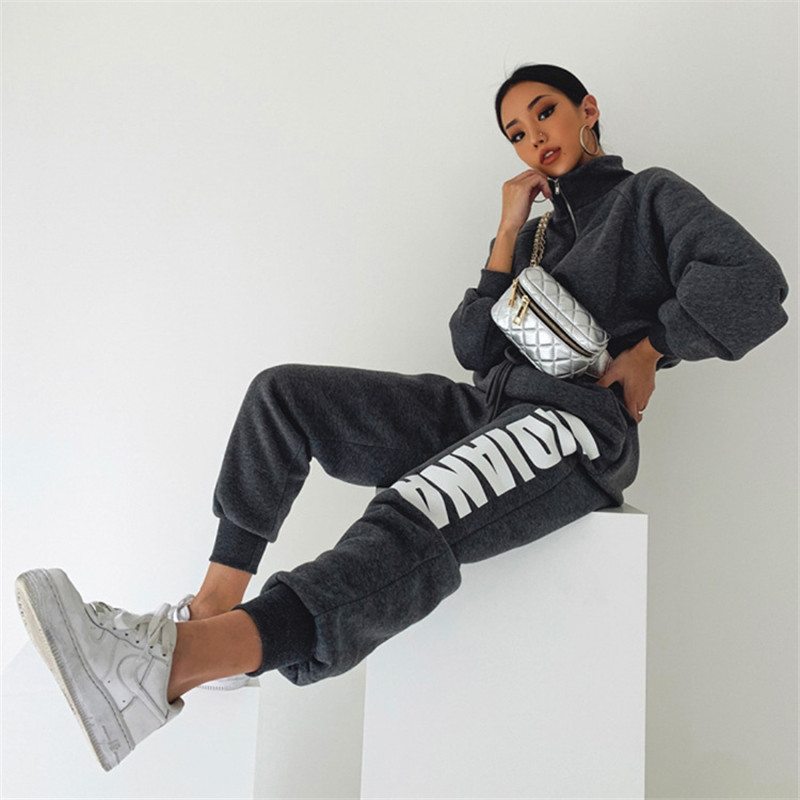 product-Women Sweatsuit Sports Suit Tracksuit Two Piece Outfits-Ruiteng-img