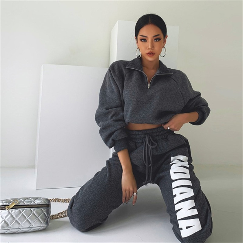 product-Ruiteng-Women Sweatsuit Sports Suit Tracksuit Two Piece Outfits-img