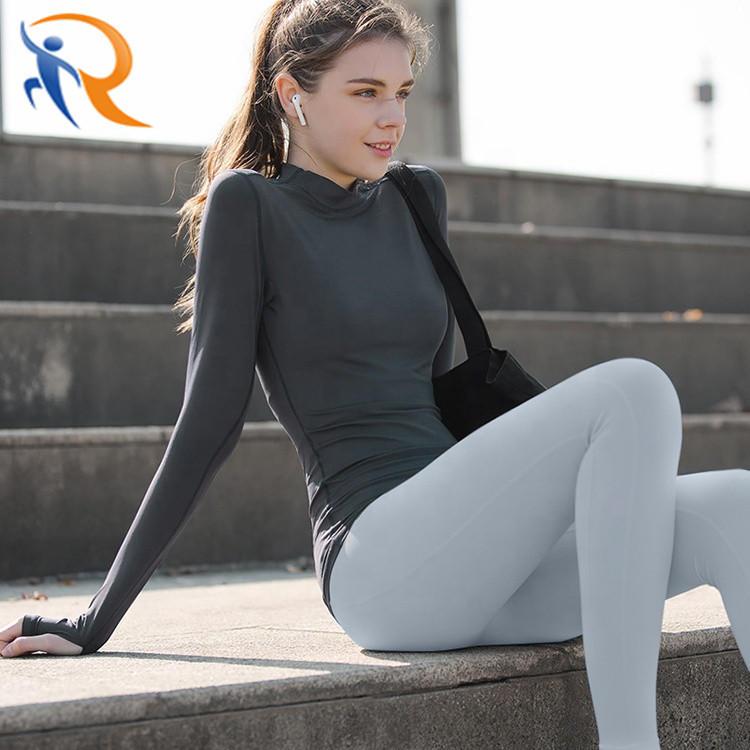 Women Long Sleeve Yoga Running Yoga T-Shirt Sportswear