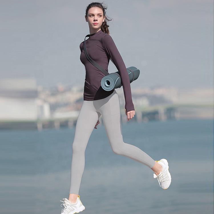 product-Women Long Sleeve Yoga Running Yoga T-Shirt Sportswear-Ruiteng-img