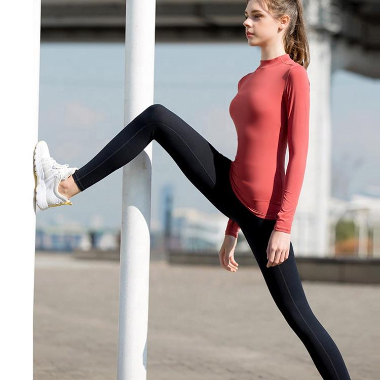 product-Ruiteng-Women Long Sleeve Yoga Running Yoga T-Shirt Sportswear-img
