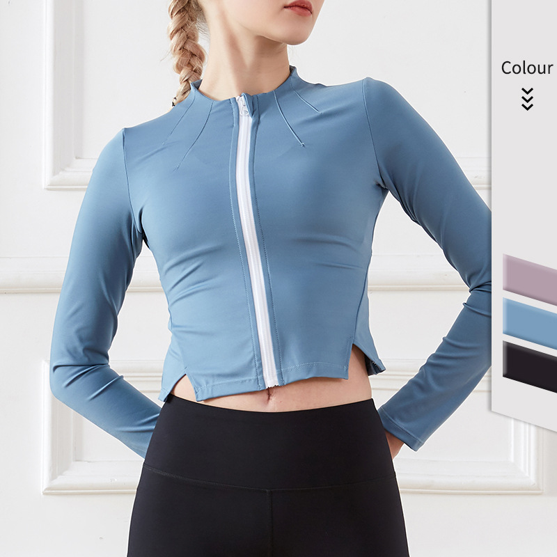 product-New Style Sports Coat Yoga Fitness Coat Gym Equipment Yoga Coat for Women-Ruiteng-img