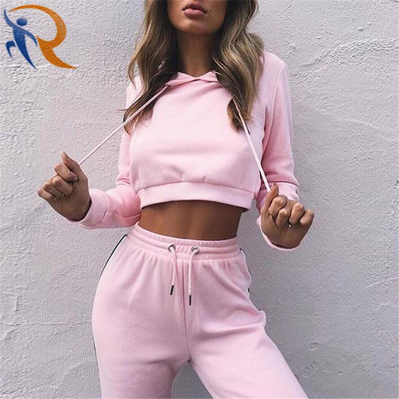 Women Casual Stylish Hoodies Tracksuit Sweatsuit Sets Workout Suit