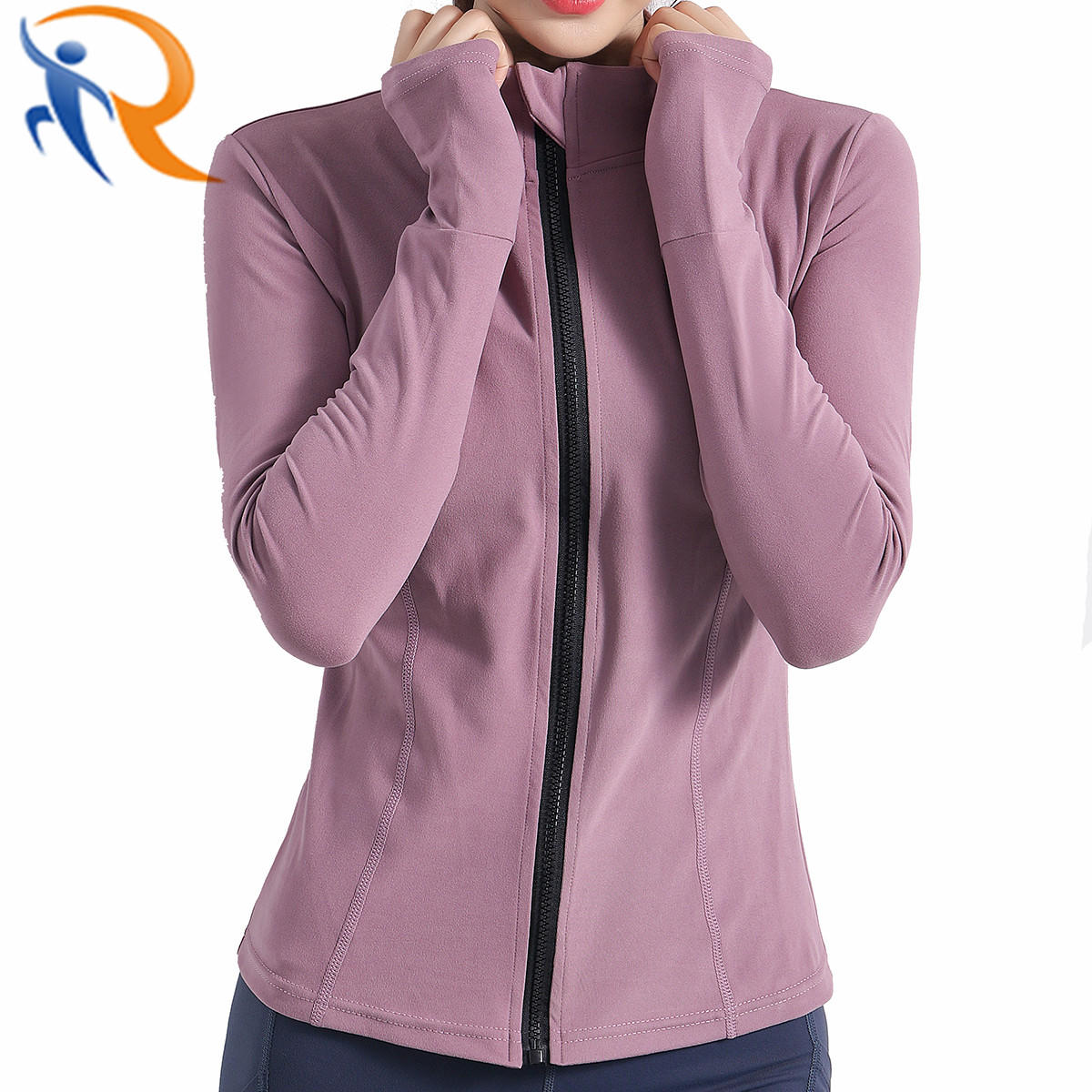 Women Slim Zip up Yoga Jacket Sports Tracksuits