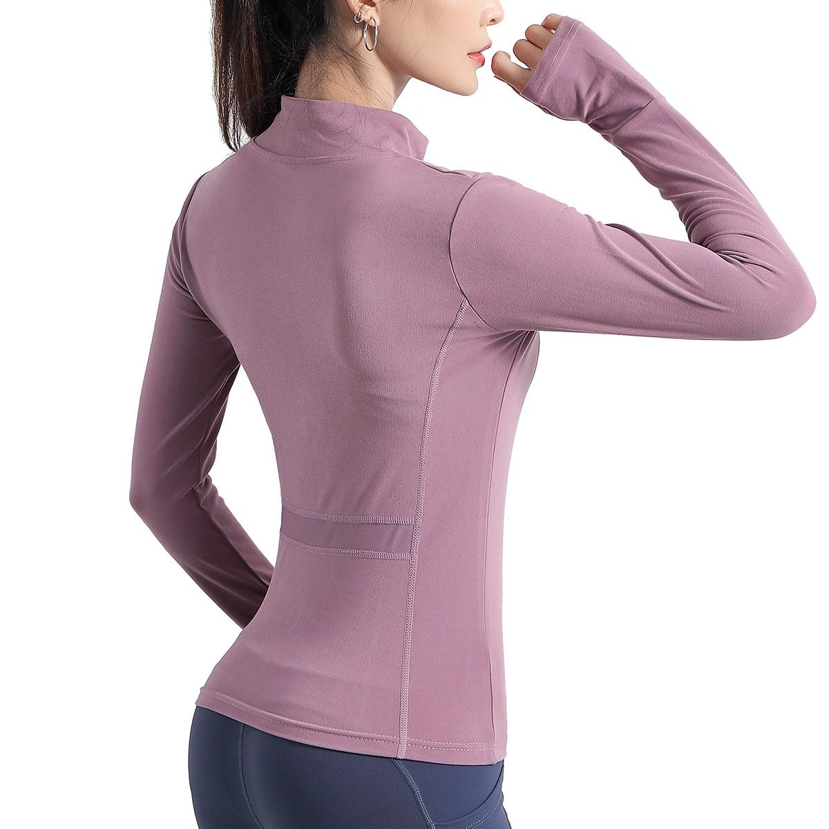 product-Ruiteng-Women Slim Zip up Yoga Jacket Sports Tracksuits-img