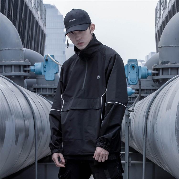 product-New Style Fashion High Street Jacket Half Zip up Sportswear Jacket for Men-Ruiteng-img