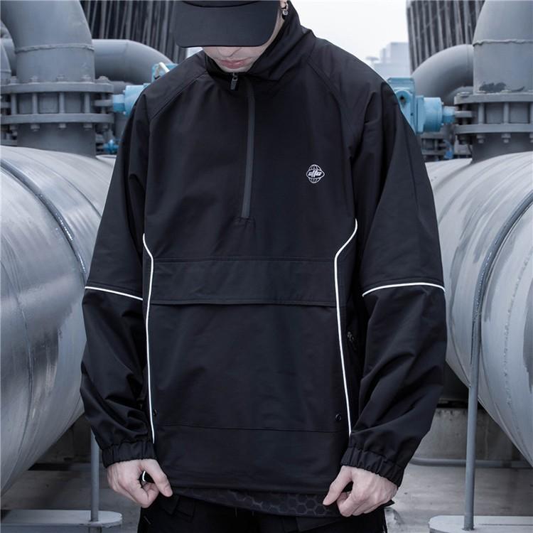 product-Ruiteng-New Style Fashion High Street Jacket Half Zip up Sportswear Jacket for Men-img
