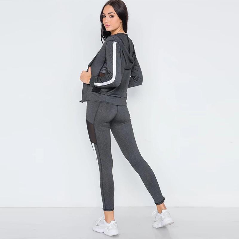 product-Ruiteng-Sportswear Fashion Yoga Coat Leggings Sports Set for Women-img