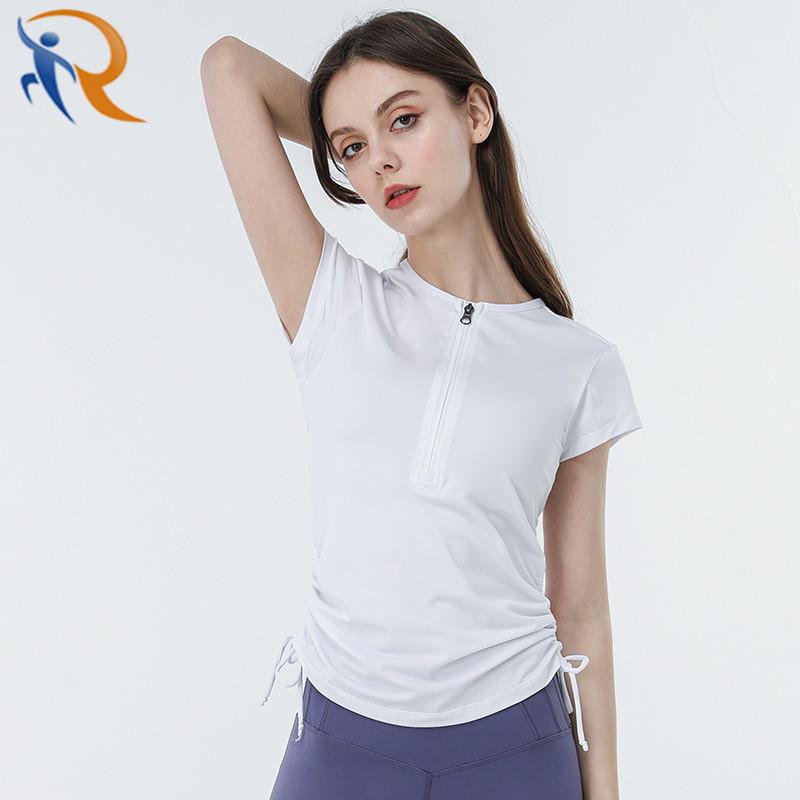 Women Casual Quick Dry Short Sleeve Sportswear Yoga Shirts