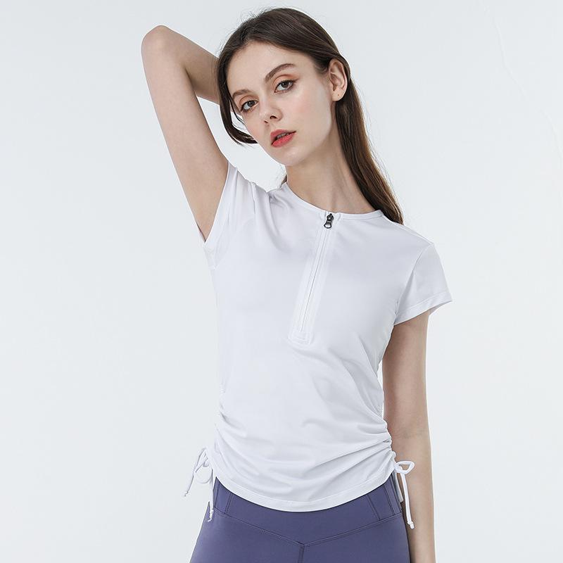 product-Women Casual Quick Dry Short Sleeve Sportswear Yoga Shirts-Ruiteng-img