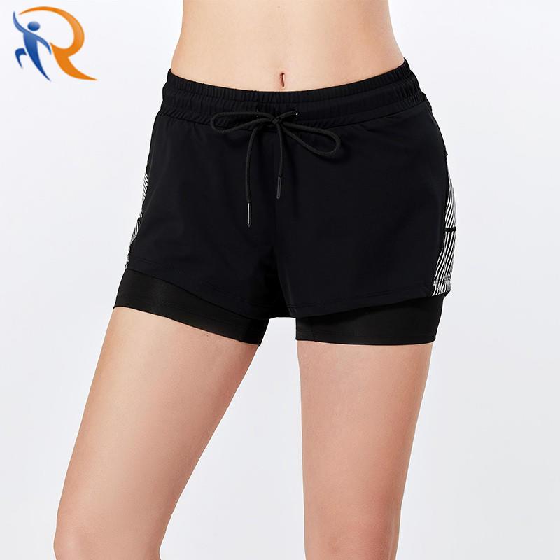 Women Tight Sportswear 2-in-1 Yoga Fitness Shorts