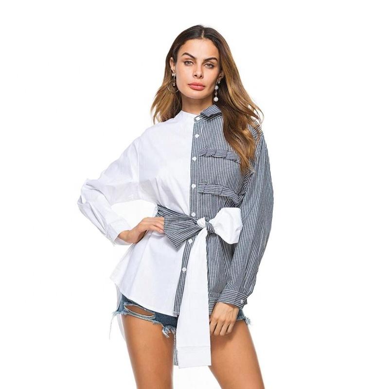 product-Women Long Sleeve Fashion Design Lapel Blouse-Ruiteng-img