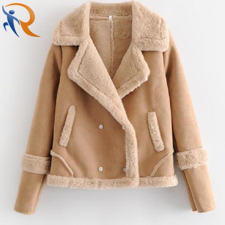 Women Winter Warm Suede Jackets Fashion Coat