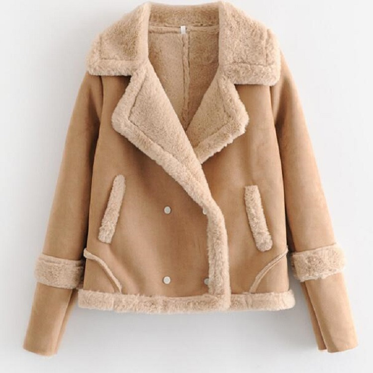 product-Women Winter Warm Suede Jackets Fashion Coat-Ruiteng-img