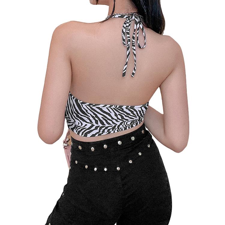 product-Women Sexy Zebra Crop Top Summer Slim Strap Sleeveless Tank Top-Ruiteng-img