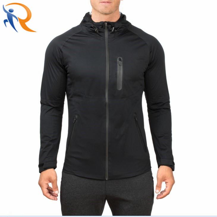 Men Zip Up Casual Wear Solid Color Leisure Slim Coat