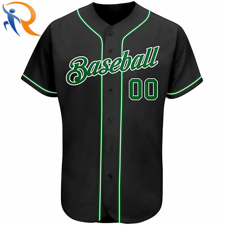 Custom Logo Men Uniform Sportswear Baseball Jerseys with Button