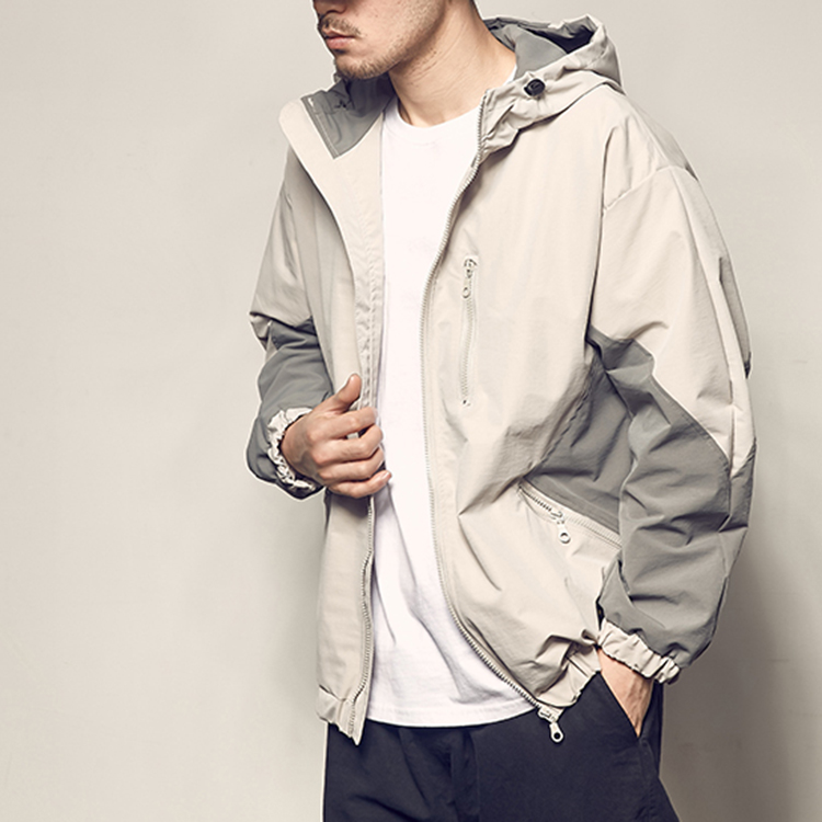 product-Men Oversized Spring Jacket Zipper Color Blocking Casual Jacket-Ruiteng-img