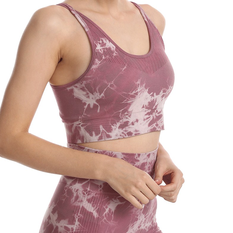 product-Ruiteng-Women Fashion High Quality Sportswear Fitness Yoga Set Tie Dyed Printing-img