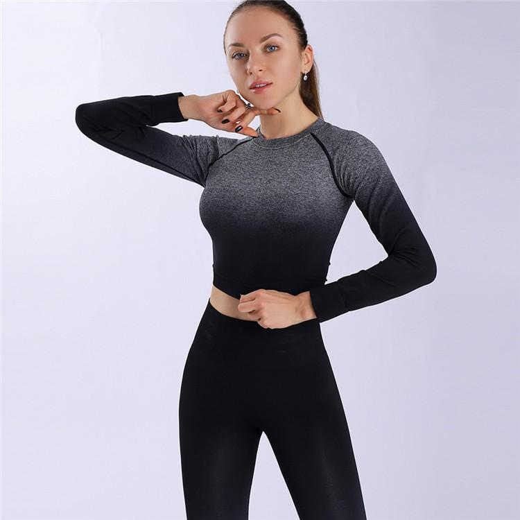 product-Women OEM Fashion Long Gradient Design Sportswear Yoga Set-Ruiteng-img