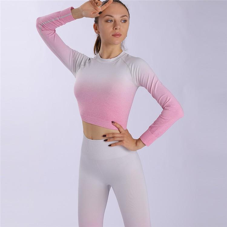 product-Ruiteng-Women OEM Fashion Long Gradient Design Sportswear Yoga Set-img