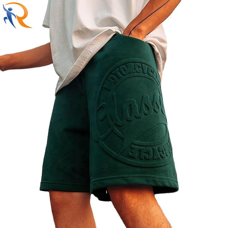 Wholesale Men 3D Embossed Logo Streetwear Cargo Shorts