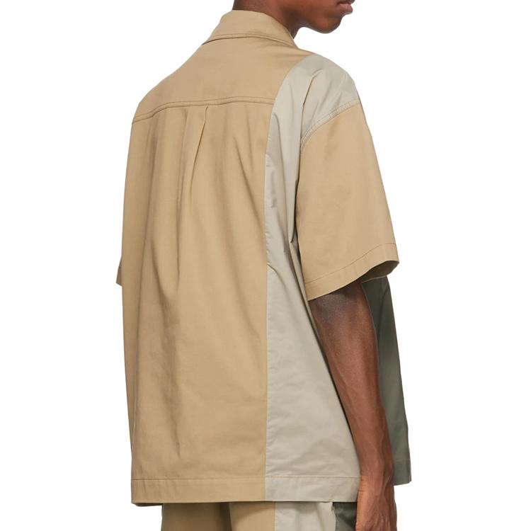 product-Ruiteng-Men Blouse Short Sleeve Fashion Blocking Oversized Shirts Blouse-img