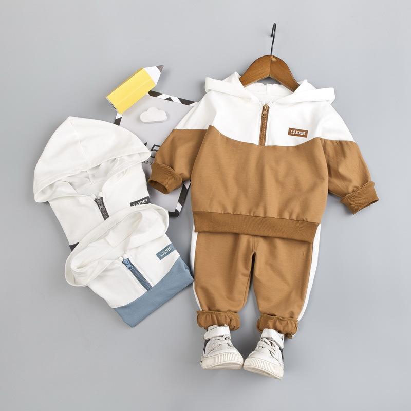 product-Ruiteng-Kids Spring Autumn Long Sleeve Unisex Half Zipper Hoodies Set Casual Wear-img