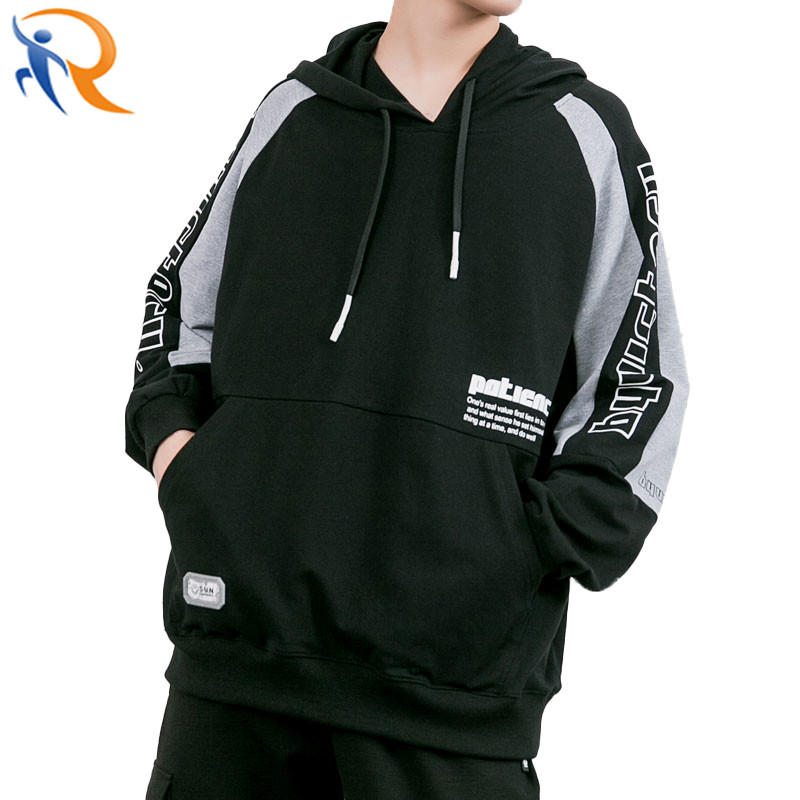 Fashion Unisex Streetwear Pullover Hoodies Sweatshirt with Customized Print Logo