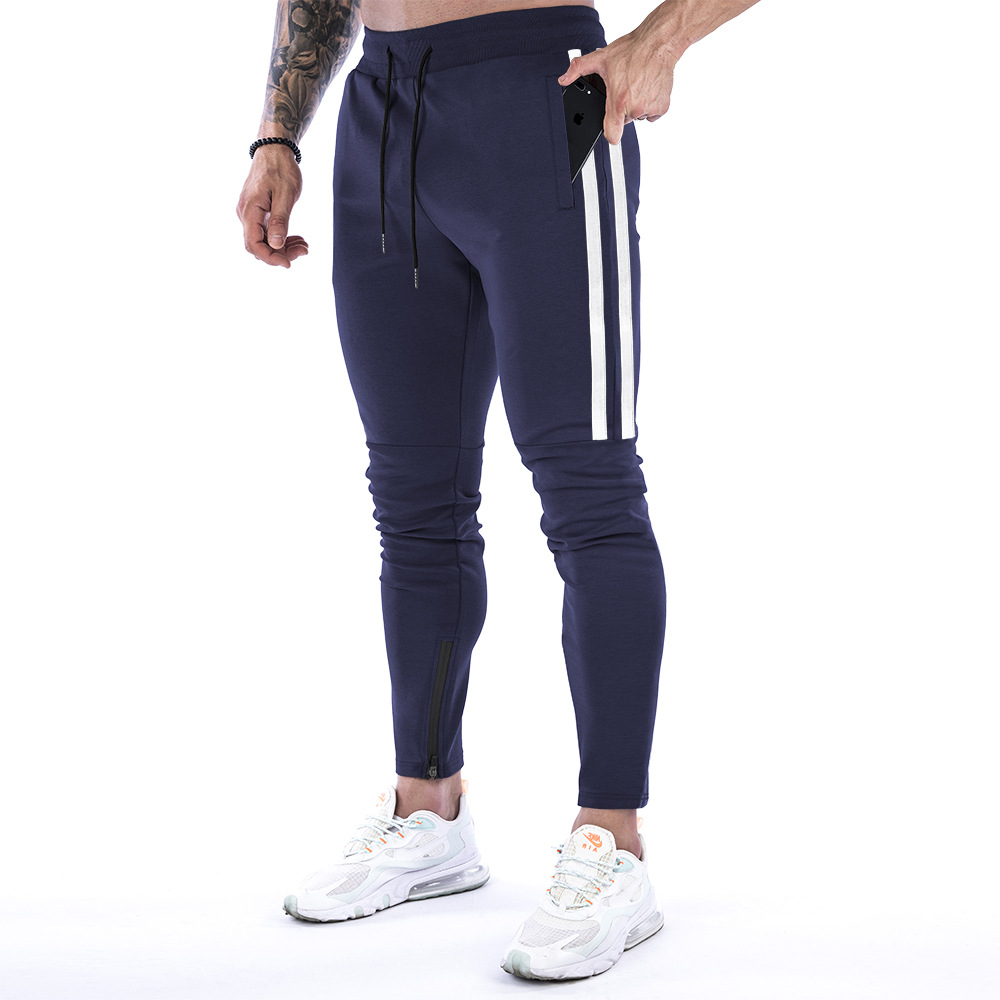 product-Men Casual Strap Fitness Sportswear Jogger Trousers Pants-Ruiteng-img