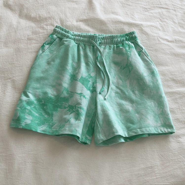 product-Women Casual Wear Tie Dyed Active Workout Shorts-Ruiteng-img