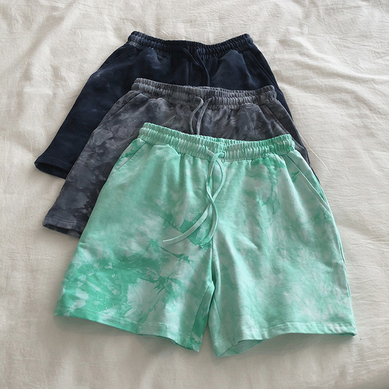 product-Ruiteng-Women Casual Wear Tie Dyed Active Workout Shorts-img