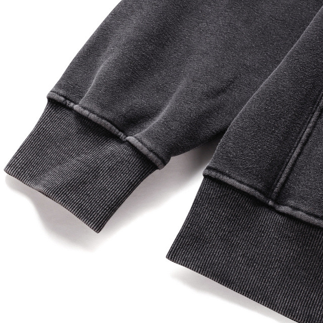 product-Mens Vintage Washed Black Oversized Street Wear Hoodies-Ruiteng-img