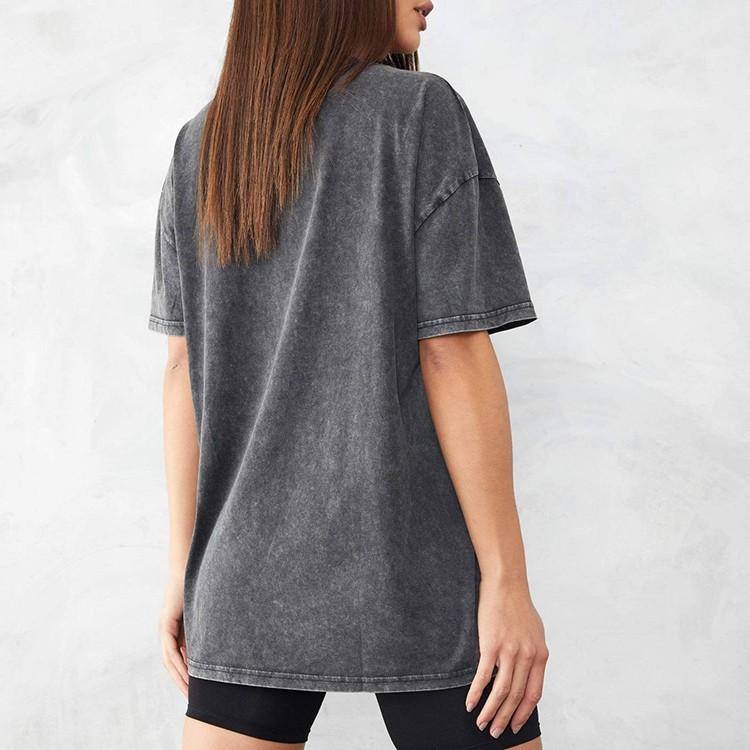 product-Ruiteng-Custom Women Short Sleeve Black Grey BF High Street Oversized Acid Wash T Shirt-img