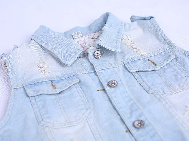 product-Women Fashion Denim Washed Blue Jean Coat Sleeveless Jacket-Ruiteng-img