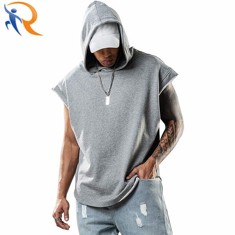 Sleeveless Fashion Streetwear Men′ S Solid Color Workout Singlet Hood