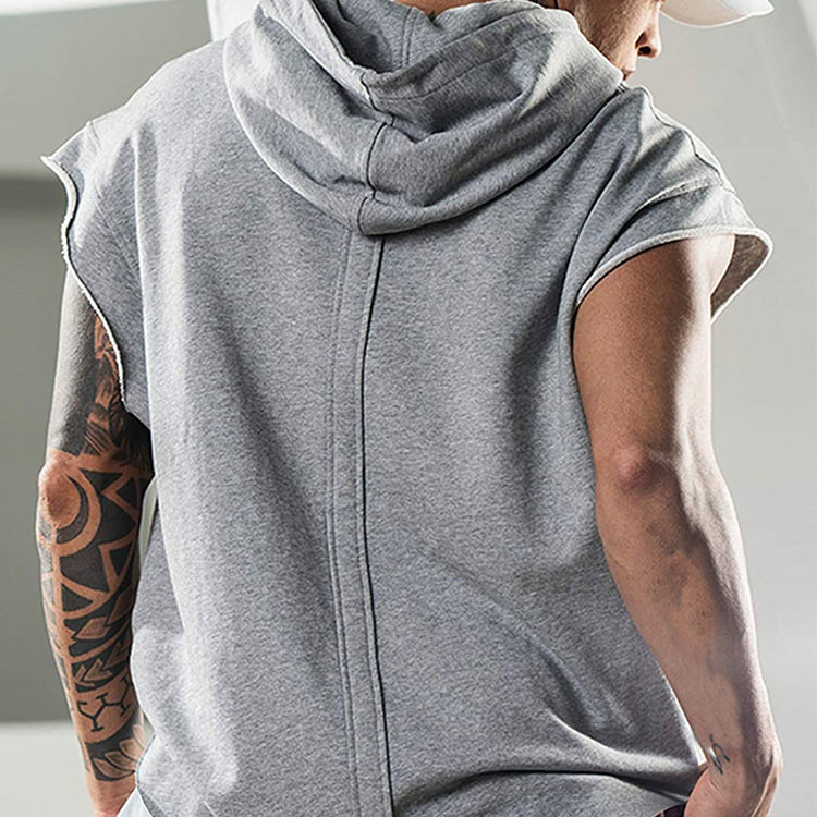 product-Ruiteng-Sleeveless Fashion Streetwear Men′ S Solid Color Workout Singlet Hood-img