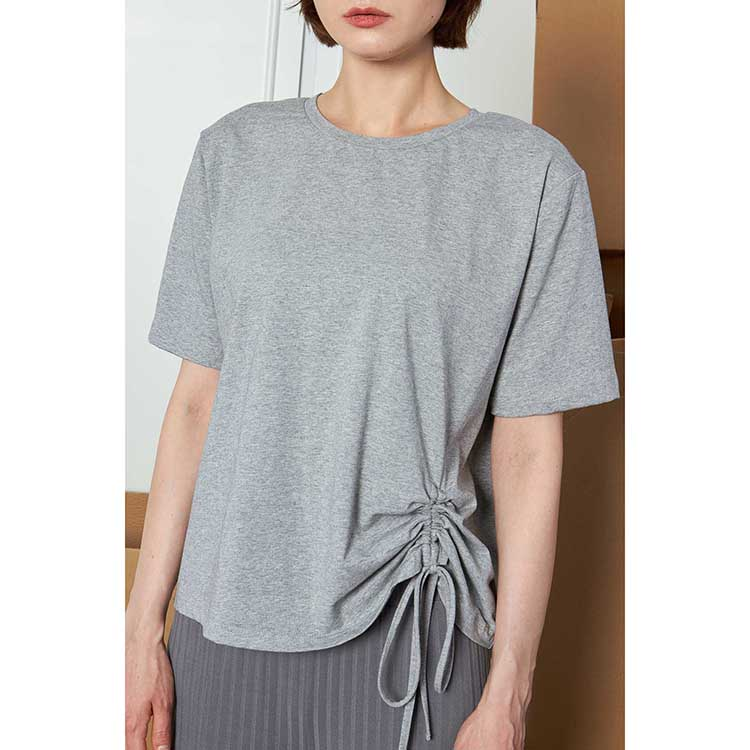 product-Wholesale Women Solid Color Plain Striped Casual Home Wear T-shirt-Ruiteng-img