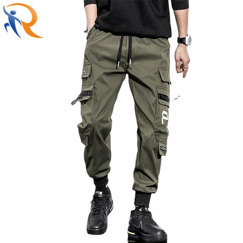 Men Street Cargo Jogger Pants Fashion Vintage Cool Boy Trousers